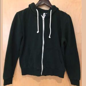 Pre-owned H&M hoodie in a deep green - M